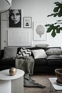 Planisphère Noir Et Blanc : le salon gris et noir comment le d corer ~ Melissatoandfro.com Idées de Décoration