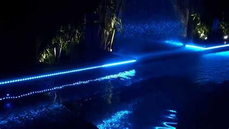 swimming pool led lights swimming pool perimeter strip lighting youtube