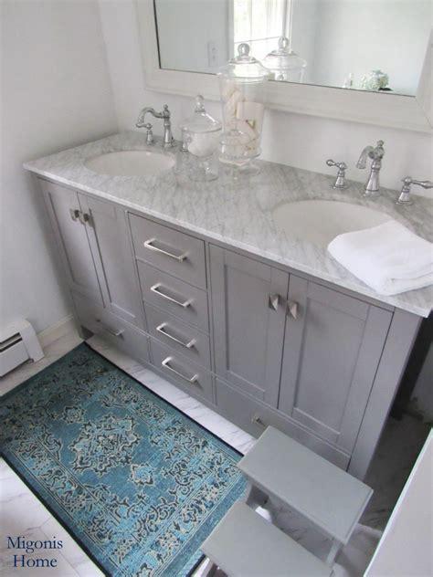 gorgeous gray vanity sponsored  joss main migonis home