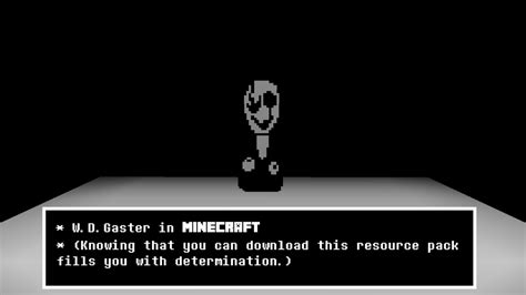 W. D. Gaster In Minecraft (resource Pack) By Dragoner7 On