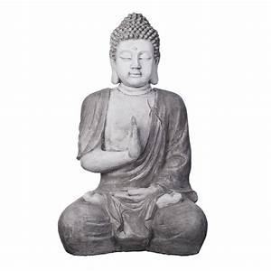 Buddha Bilder Gemalt : deko buddha figur xxl 100cm buddha statue b ste gartendekoration b1673 steingrau ebay ~ Markanthonyermac.com Haus und Dekorationen