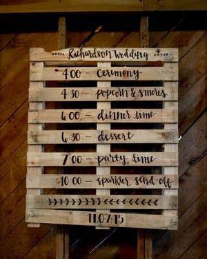 fun idea   wedding timeline hand lettered