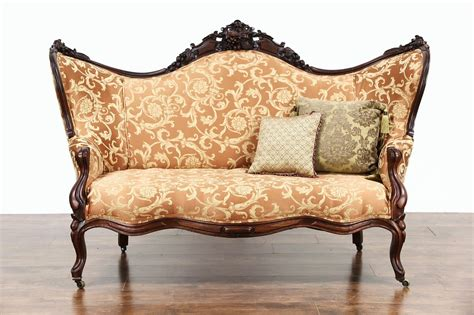 Antique Upholstery by Sold 1860 Antique Carved Grape Fruit Motif