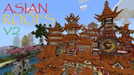asian roofs  minecraft pe maps