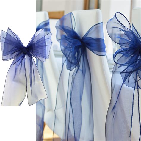 50pcs 18x275cm organza chair sashes bow cover wedding party banquet decorations ebay