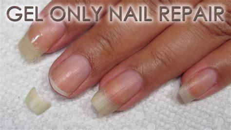fix  broken nail  gel  diy nail repair