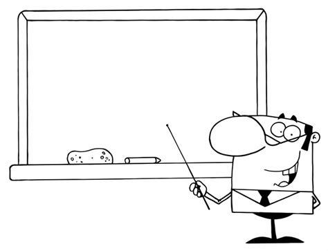 kostenlose malvorlage schule lehrer  der tafel zum ausmalen