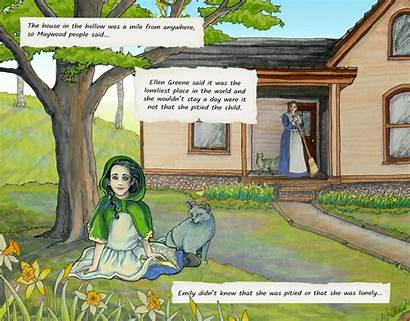 Emily Moon Novel Graphic Yellow Wind