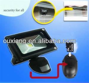Motion activated security light camera in led floodlight