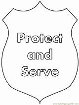 Police Coloring Printable Badge Officer Crafts Peoples Protect Serve Coloringpages101 Popular Adults Coloringhome Advertisement Insertion Codes Easily sketch template