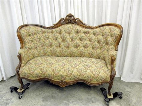antique sofa for sale antique walnut victorian style button tuft sofa chaise for