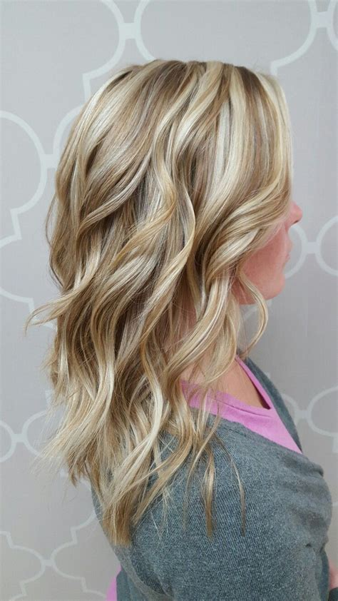 cool blonde with low lights and layers my style hair