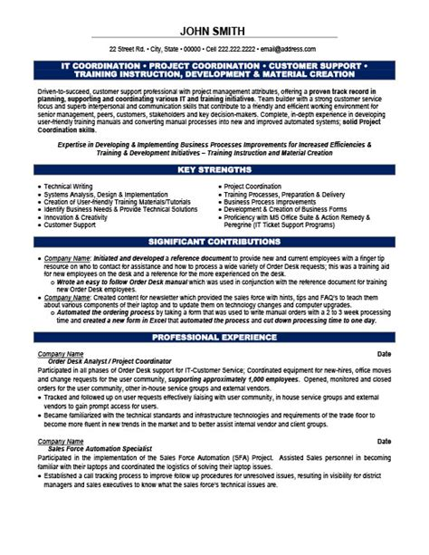 Project Coordinator Resume Format by Project Coordinator Resume Template Premium Resume Sles Exle