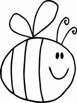 Bee Coloring Pages Cute Bumble Printable Getcolorings Adults Fat sketch template