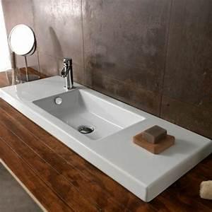 la vasque a poser rectangulaire en 67 photos inspirantes With salle de bain design avec vasque rectangulaire blanche a poser
