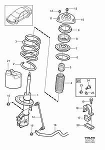 30616859 - Suspension Strut  Right  Front