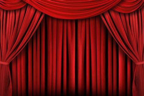 theatrical stage draped curtain drawings and paintings