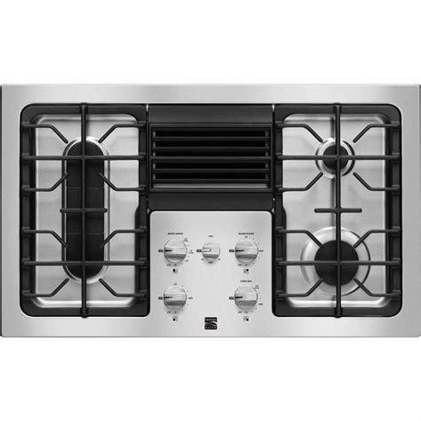 kenmore elite downdraft gas cooktop modern ventilation  sears