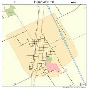 Grandview TX Map Texas