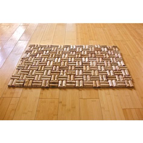 cork floor mat upcycled wine cork bath mat with weave pattern