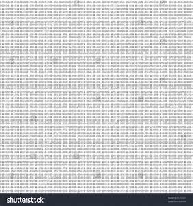 Black White Sheet Binary Codes Abstract Stock Illustration ...