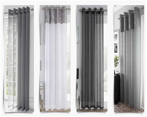 Silver Grey White Voile Eyelet Curtains Ring Top Sparkle Flooring Options For Lounge Installing Laminate Kitchen Marble Side Effects Different Types Of Used In Interiors Red Oak Cost Resilient By Shaw Ceramic Tiles India Brick Tile Outdoor