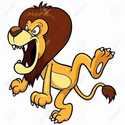 Lion Cartoon Clipart Fierce Cat Lions Animated