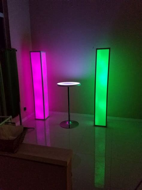 foot tall portable light  led glow column