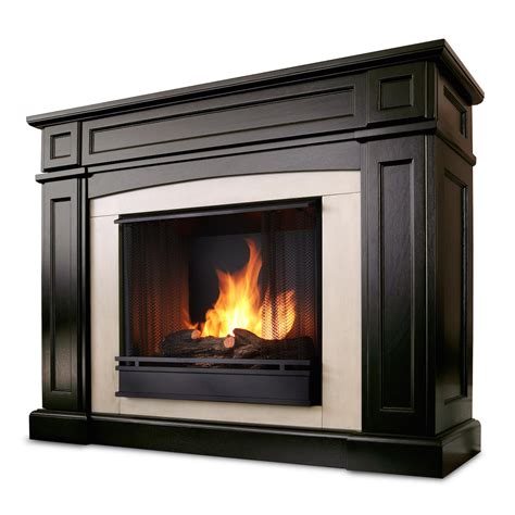 Real Flame Rutherford Ventless Gel Fireplace In Dark Walnut