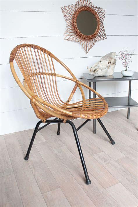 d馗o vintage chambre fauteuils coquille vintage en rotin et table d 39 atelier trendy