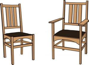 stickley   side chair   arm chair