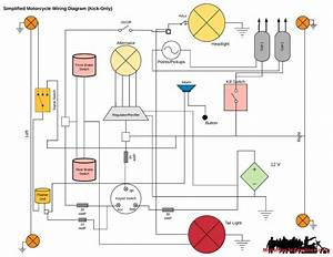 Simple Motorcycle Wiring Harness Diagram