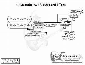 1 Humbucker  1 Volume  1 Tone