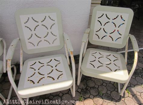metal patio furniture restoration metal patio furniture makeover a restoration hardware