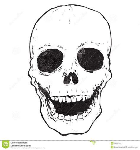 cartoon spooky skull drawing stock vector illustration