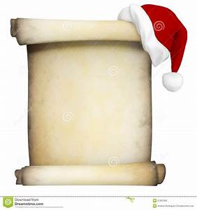 Christmas scroll clipart clipart suggest for Scroll letter from santa