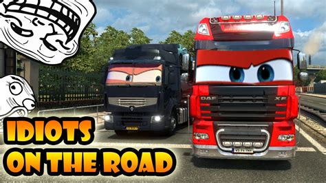 truck simulator on the road idiots on the road 10 ets2mp moments truck simulator 2 multiplayer