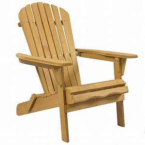 Outdoor adirondack wood chair foldable patio lawn deck for Wooden lawn chair