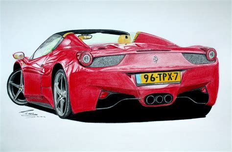 ferrari drawing ferrari 458 spider pencil drawing youtube