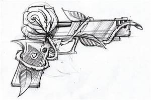 Gun and rose by SteveGolliotVillers on DeviantArt