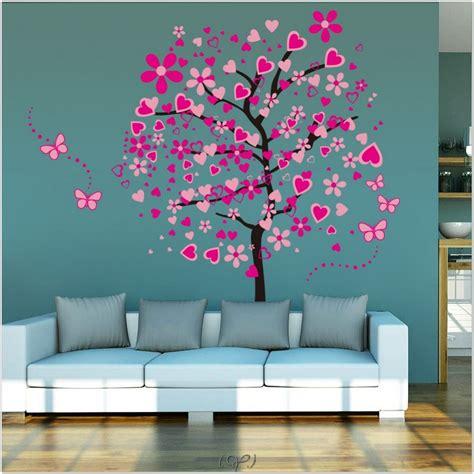 interior tree wall painting room decor