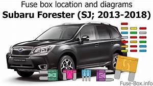 Fuse Box Location And Diagrams  Subaru Forester  Sj  2013