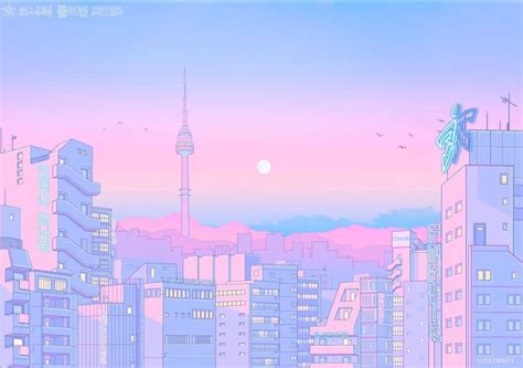 pink anime aesthetic kawaii desktop wallpapers wallpaper