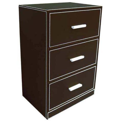 tiroir en rangement meuble de rangement 3 tiroirs en simili cuir