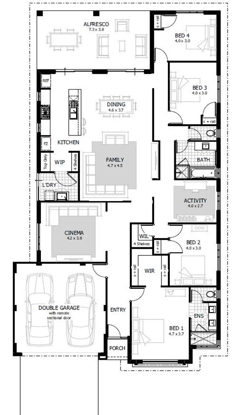 4 bed house plans 4 bedroom house plans home designs celebration homes