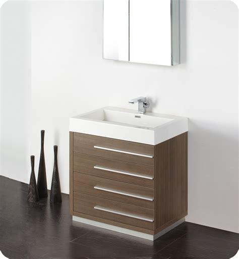 designer bathroom vanities cabinets fresca livello 30 quot gray oak modern bathroom vanity