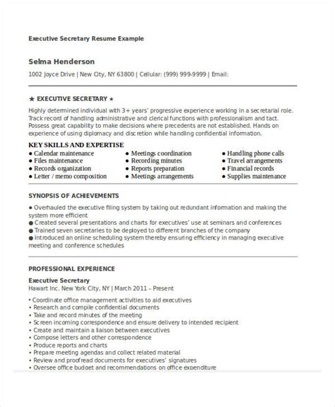 Professional Ceo Resumes by Executive Resume Exles 24 Free Word Pdf Documents