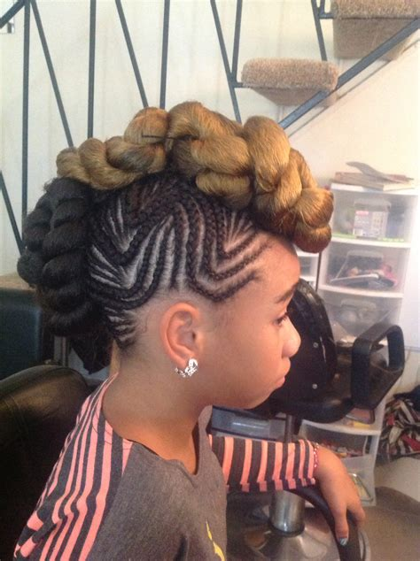 mohawk hairstyle with weave fade haircut