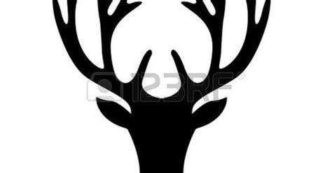 darstellung einer hirschkopf silhouette auf wei em