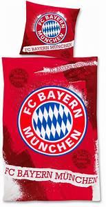 Fc Bayern Bettwäsche : fc bayern m nchen bettw sche fan rot 135x200cm ~ Watch28wear.com Haus und Dekorationen